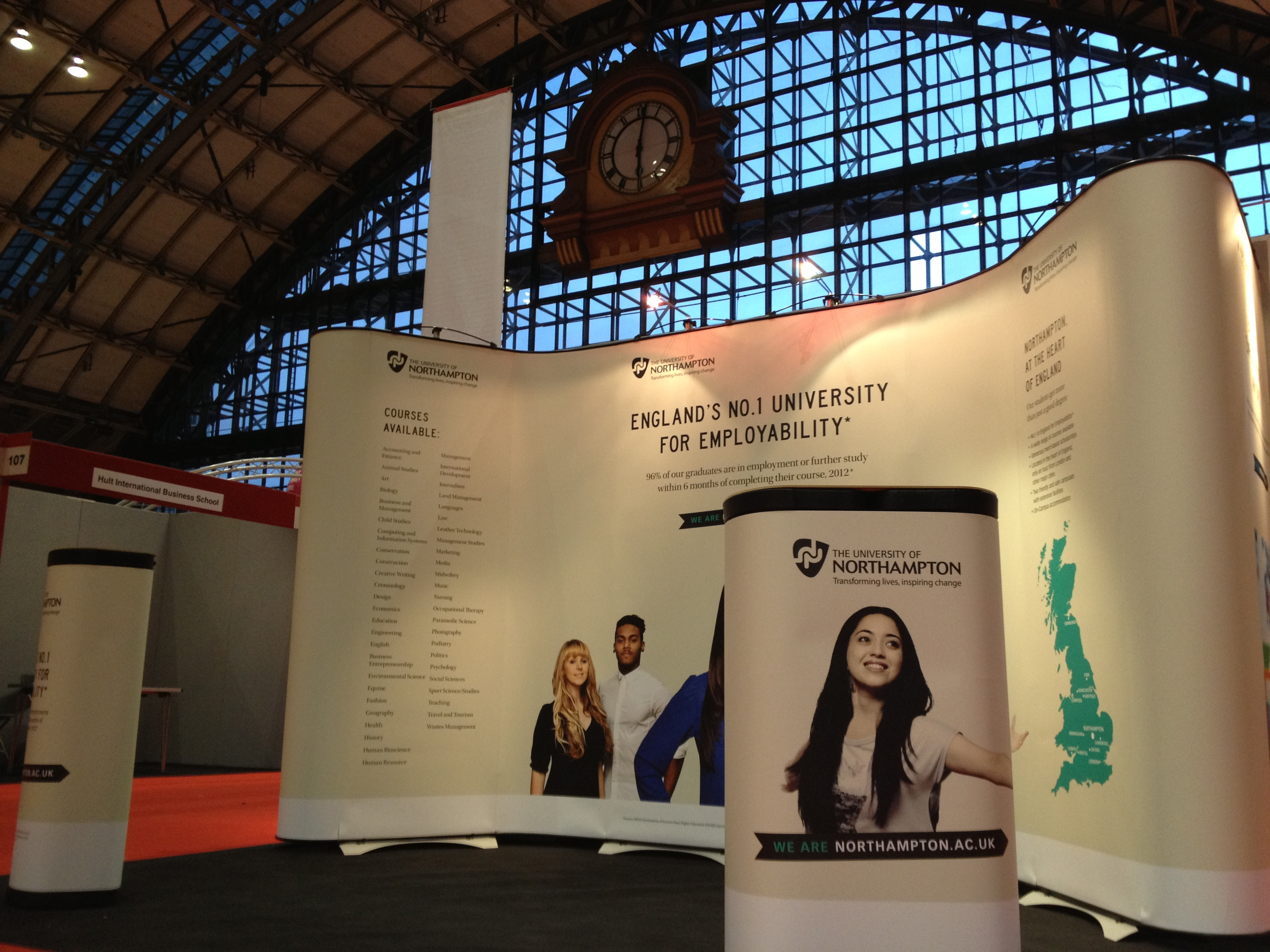 Exhibition Stand Northampton : Just digital large format graphics displays and exhibition stands